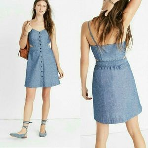Madewell Cutout Denim Dress